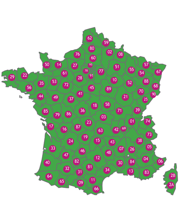 carte de france 73210